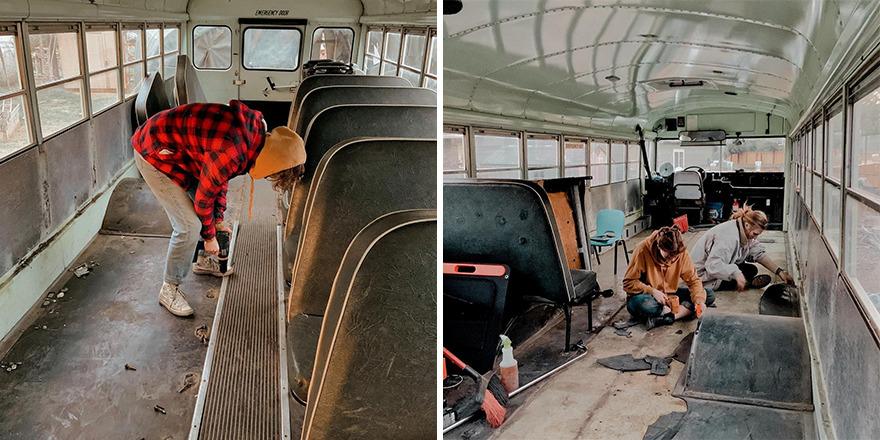 Phát hiện hẹn hò chung một người, ba cô gái đã 'độ' lại chiếc xe buýt để 'phượt' xuyên nước Mỹ - 5